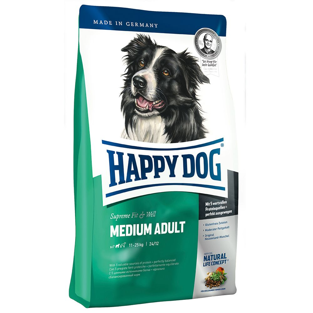 Happy Dog Supreme Fit & Well Adult Medium - Economy Pack: 2 x 12.5kg