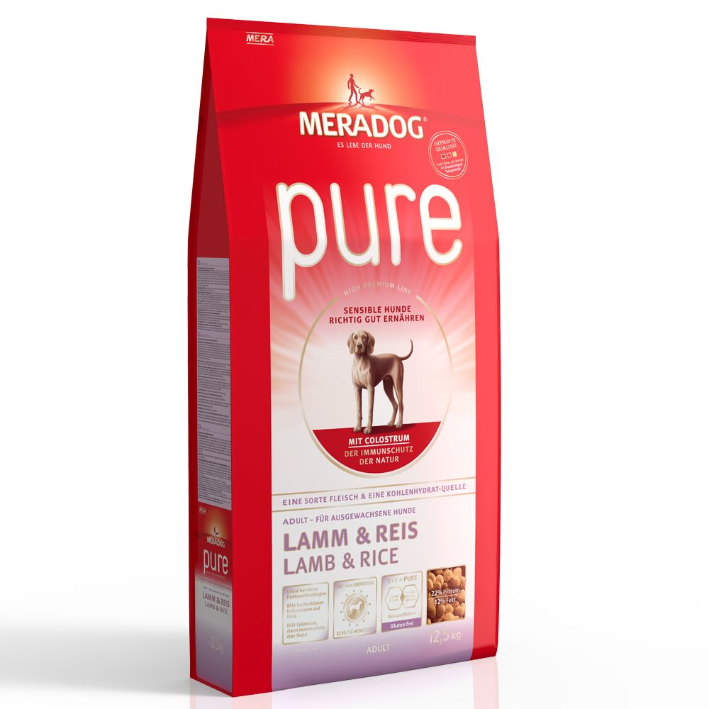 Mera Dog pure Lamb & Rice - Economy Pack: 2 x 12.5kg