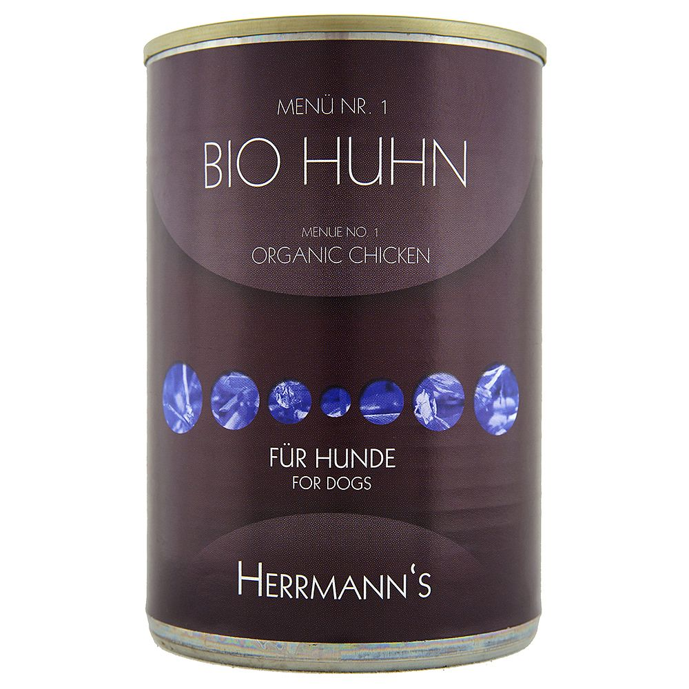 Herrmann's Menu 6 x 400g - Organic Duck with Sweet Potato & Primrose Oil (gluten- & grain-free)