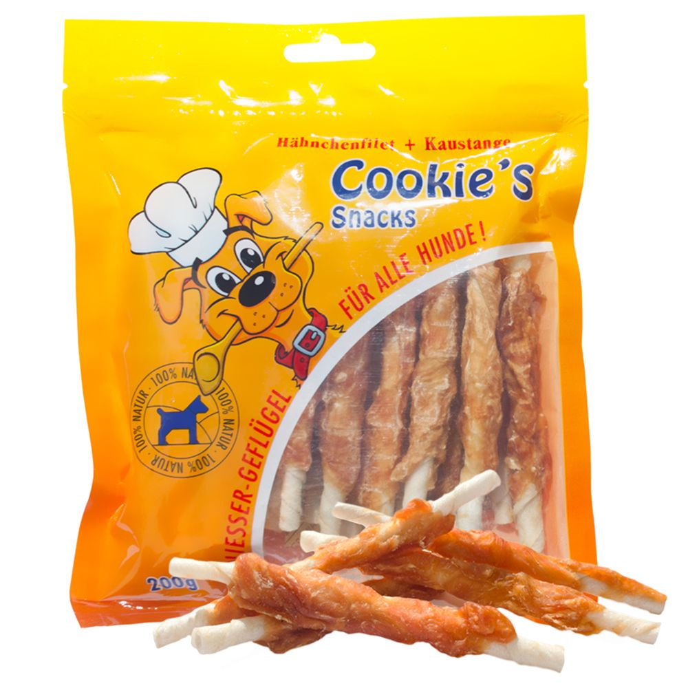 Chicken Twist Strips Cookie's Dog Snacks