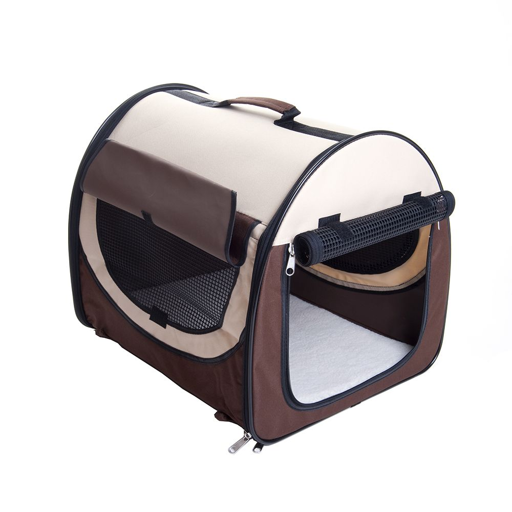 Easy Go Folding Transport Box - Brown / Beige - Size L: 77 x 57 x 63 cm (L x W x H)