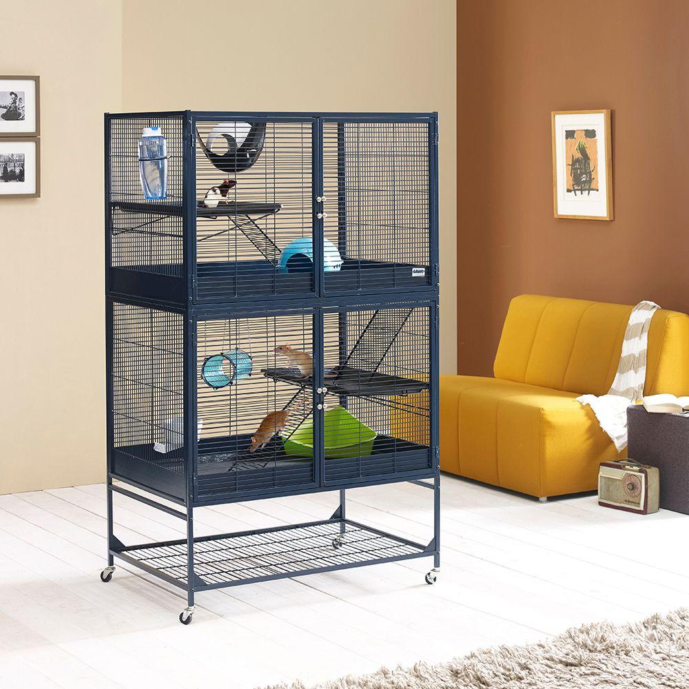 Rongeur Co Cage Rat Cage à rat à plusieurs niveaux et grande cage à rat