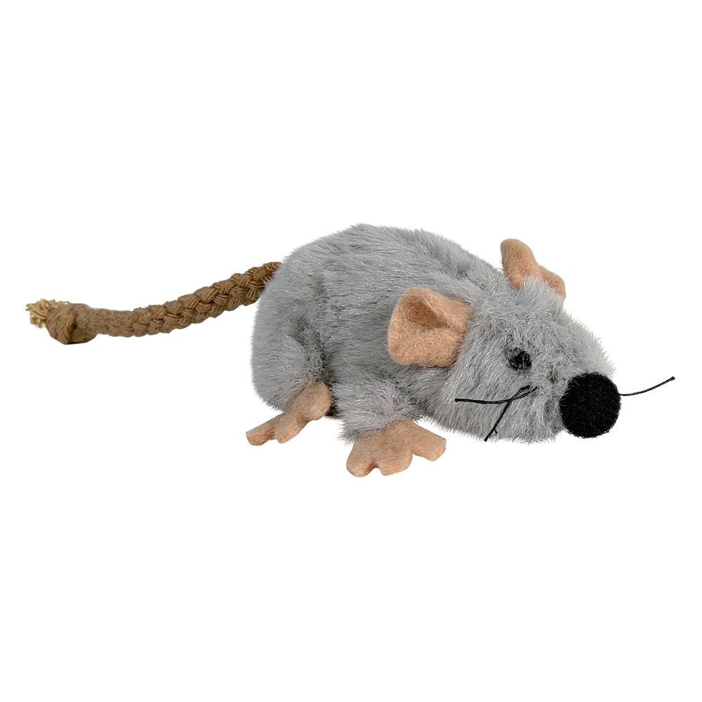 Trixie Cat Toy Plush Mouse with Catnip - 7cm