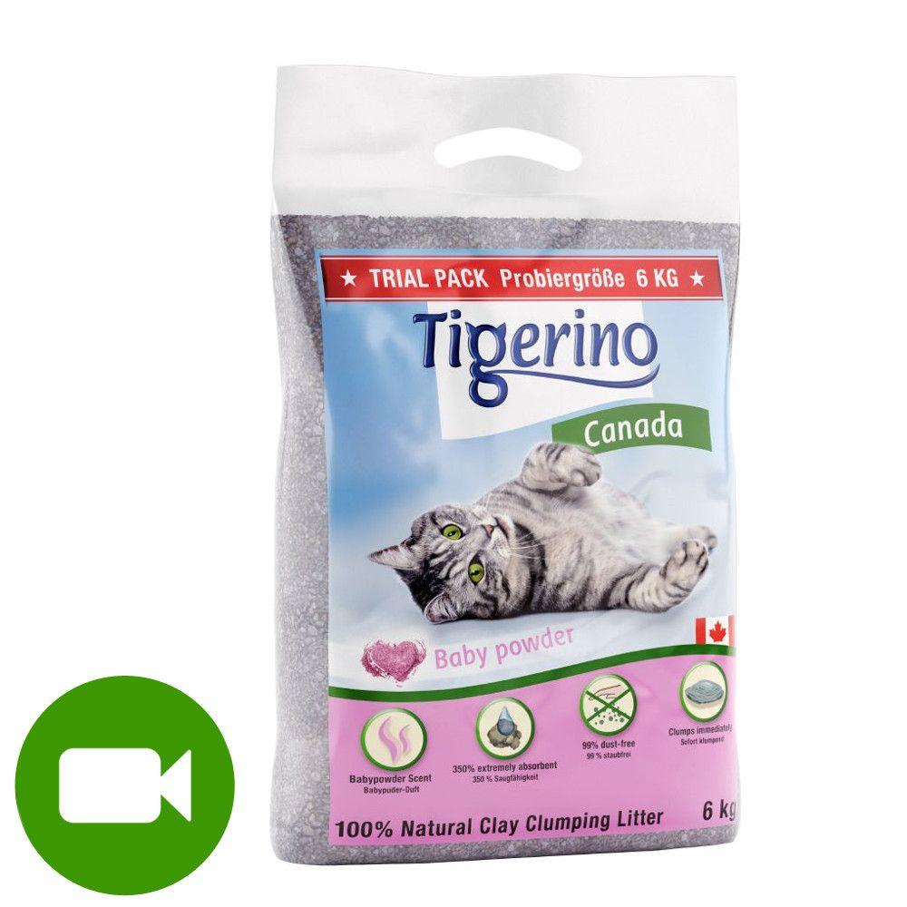 Tigerino Canada żwirek dla kota - zapach pudru dziecięcego - 6 kg (ok. 6 l)