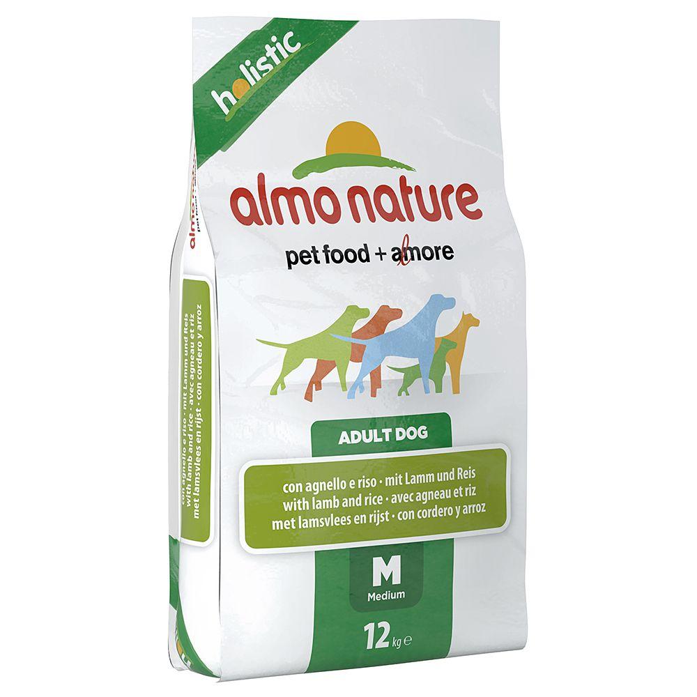 Almo Nature Holistic Dog Food - Medium Adult Lamb & Rice - Economy Pack: 2 x 12kg