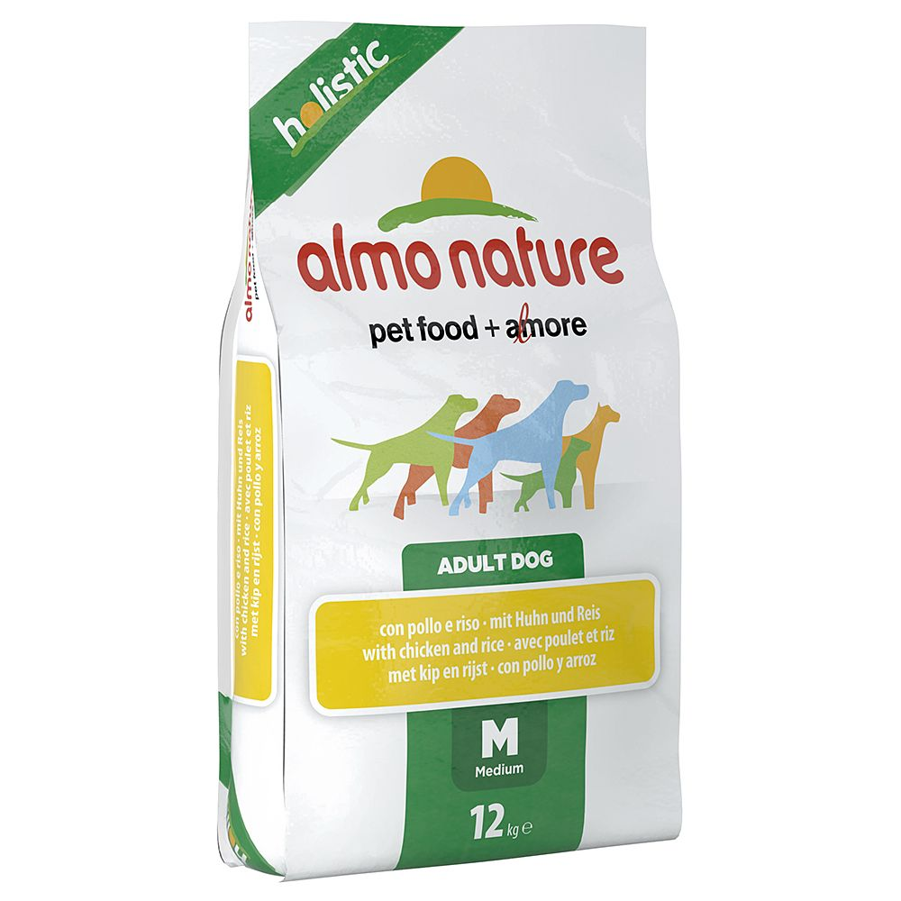Almo Nature Adult Huhn & Reis Medium - Sparpaket: 2 x 12 kg