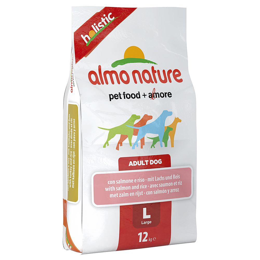 Almo Nature Holistic Dog Food - Large Adult Salmon & Rice - 12kg