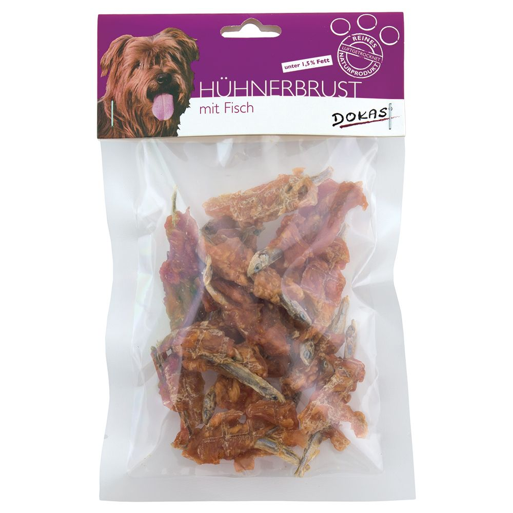 Dokas Chew Snack Chicken Breast with Fish - Saver Pack: 3 x 70g