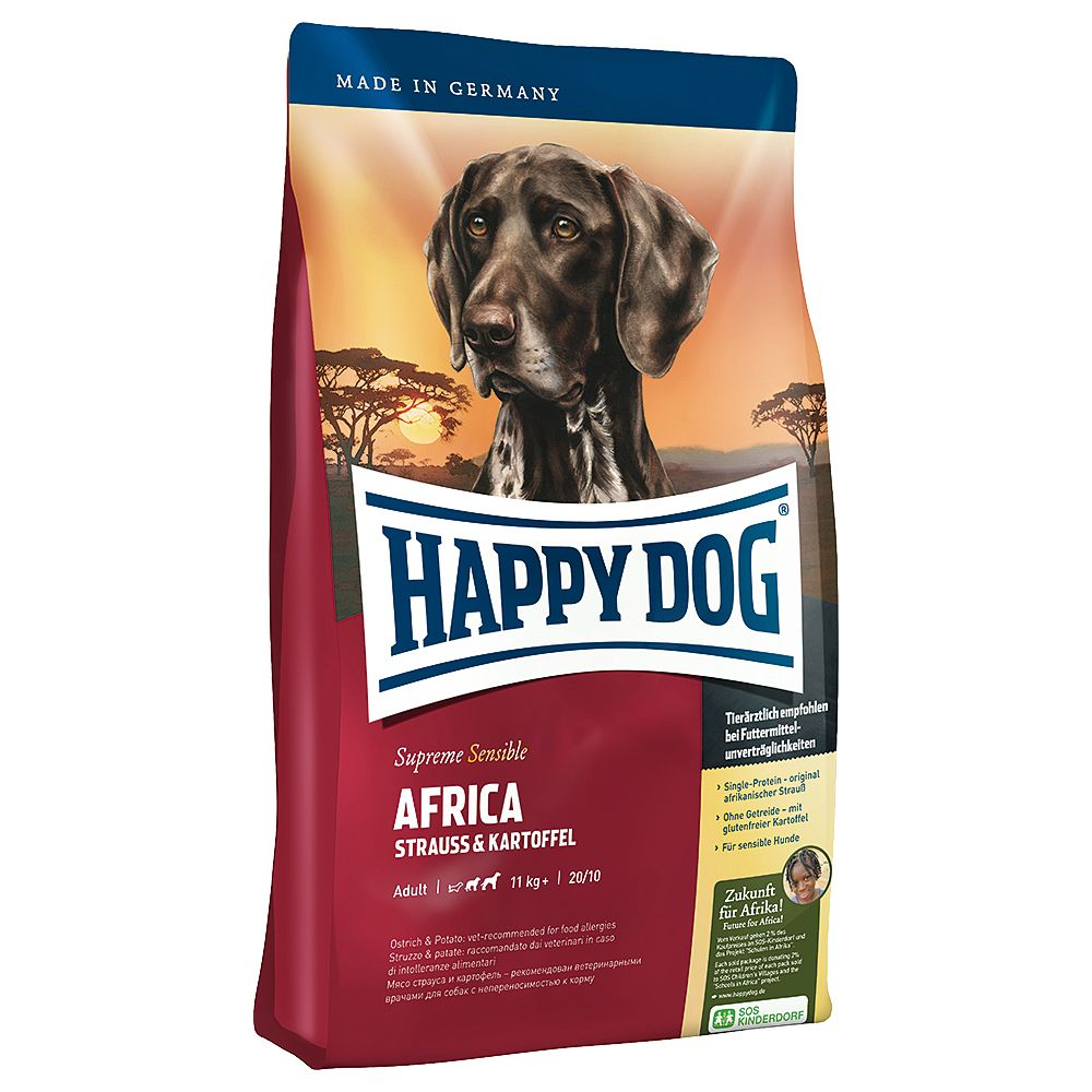4 kg - Happy Dog Supreme Sensible Africa Hundefutter Trocken