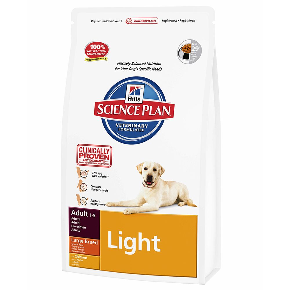 Hill's Science Plan Adult Light Large Breed - Chicken - 12kg