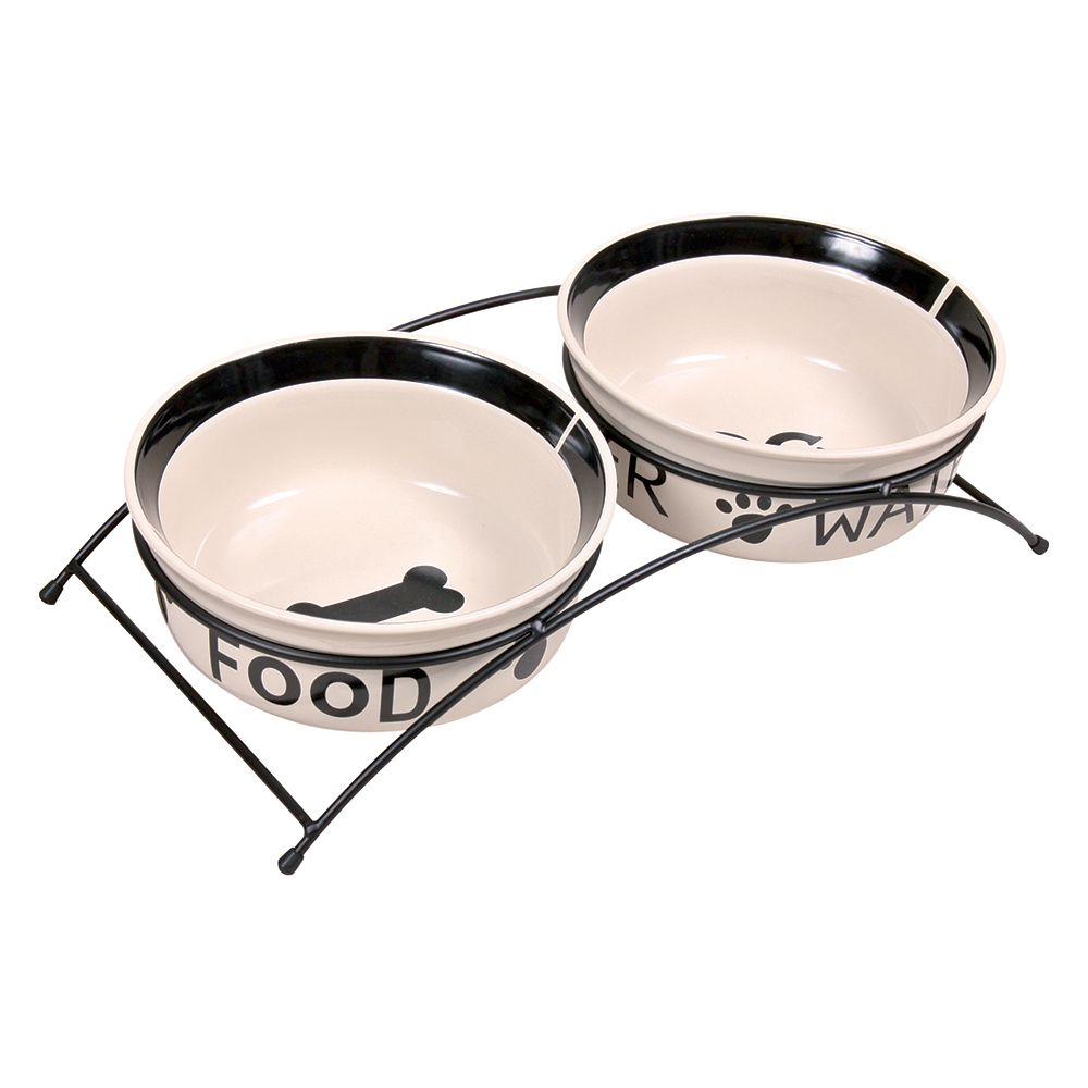 Click to view product details and reviews for Trixie Eat On Feet Bowl Set With Stand 2 X 16 Litre.