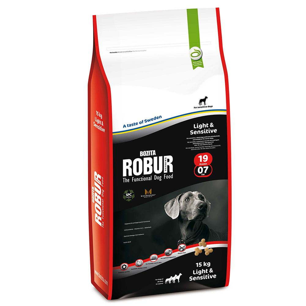 Bozita Robur Light & Sensitive 19/07 - Sparpaket: 2 x 12,5 kg