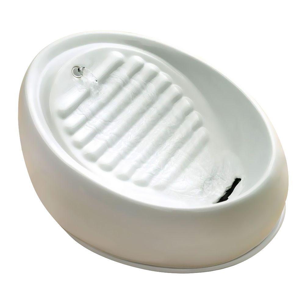Lucky-Kitty Keramik Trinkbrunnen -  Trinkbrunnen 1,5 Liter / Farbe: weiß