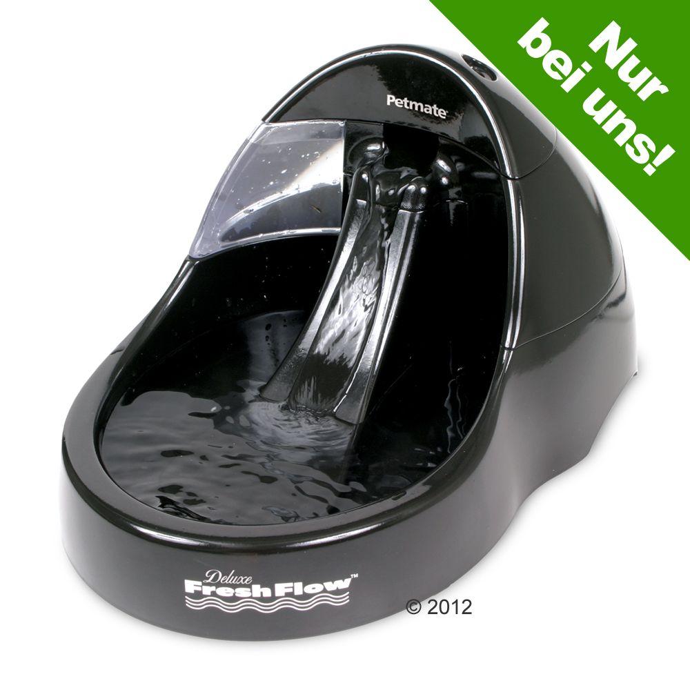 Fresh Flow Deluxe Trinkbrunnen Black, 3 Liter - Ersatzfilter (2 Stück)