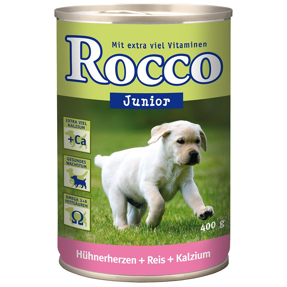 Rocco Junior 6 x 400g - Poultry, Game, Rice & Calcium
