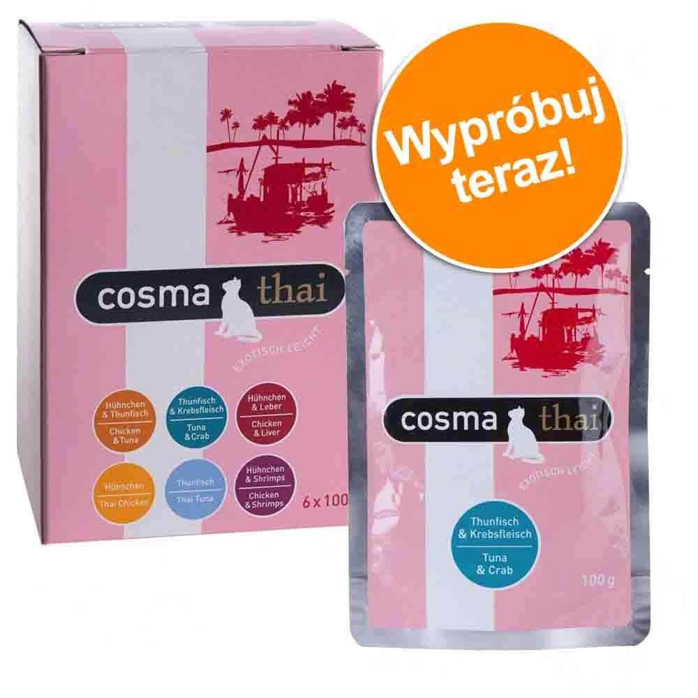 Mieszany pakiet próbny Cosma Thai w galarecie - 6 x 100 g