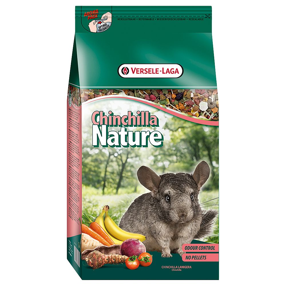 Versele-Laga Chinchilla Nature chinchillafoder – Ekonomipack: 2 x 10 kg