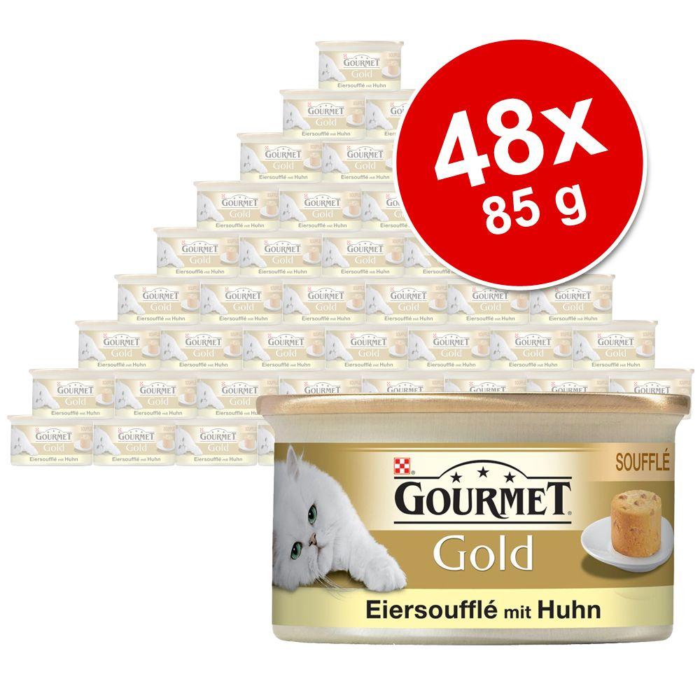 Megapakiet Gourmet Gold Suflet Jajeczny, 48 x 85 g - Pakiet mieszany
