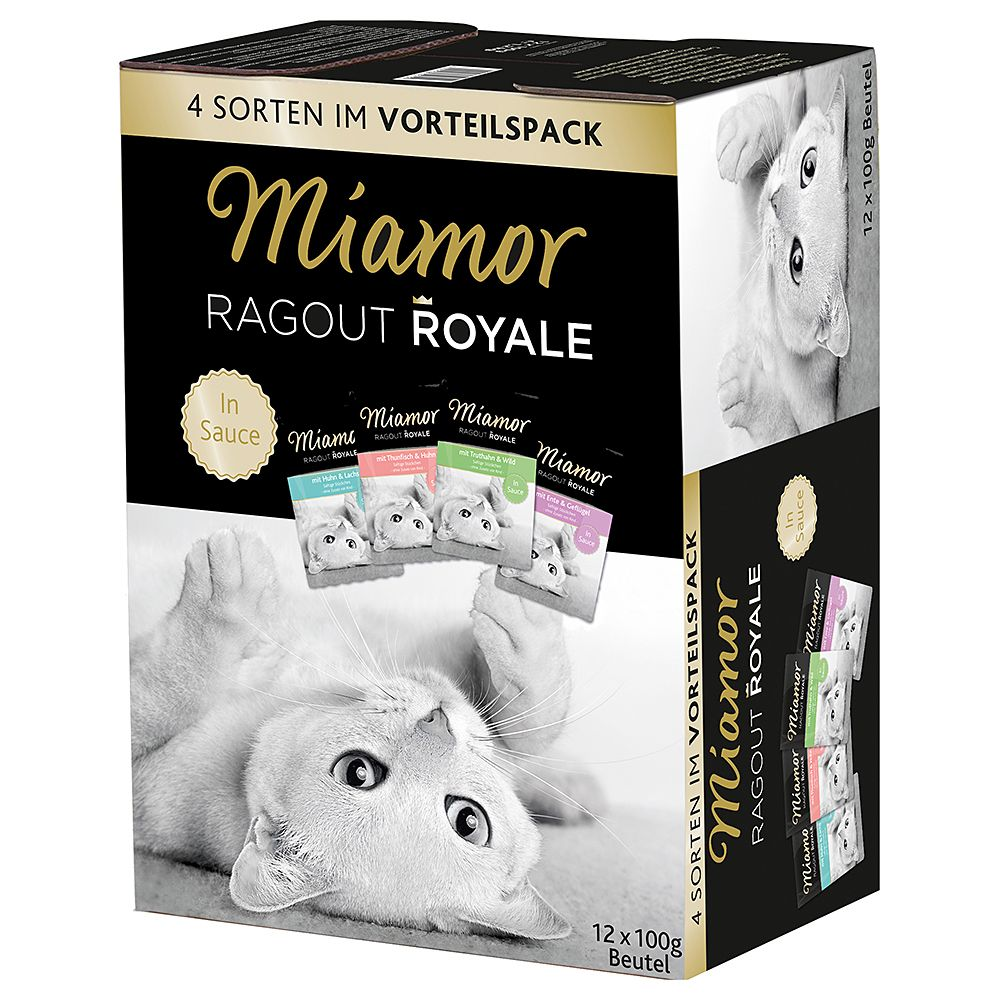 Miamor Ragout Royale Mixed Trial Pack 12 x 100g - Rabbit, Chicken & Tuna
