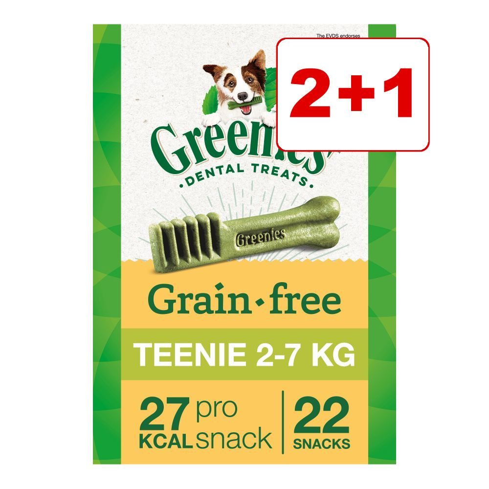 2 + 1 på köpet! 3 x 170 g Greenies tandvårdsgodis - Greenies Teenie 3 x (170 g / 22 st)