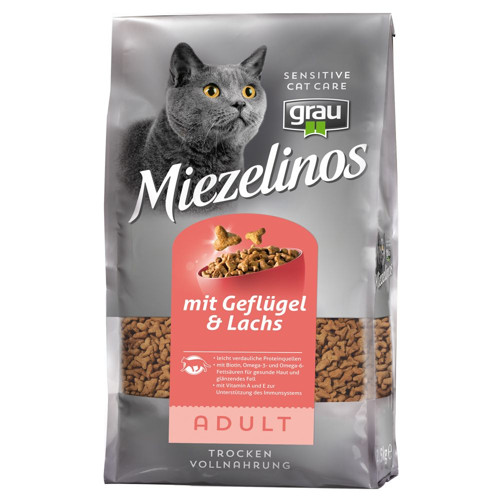 Grau Miezelinos Adult with Poultry & Salmon - 2.5kg