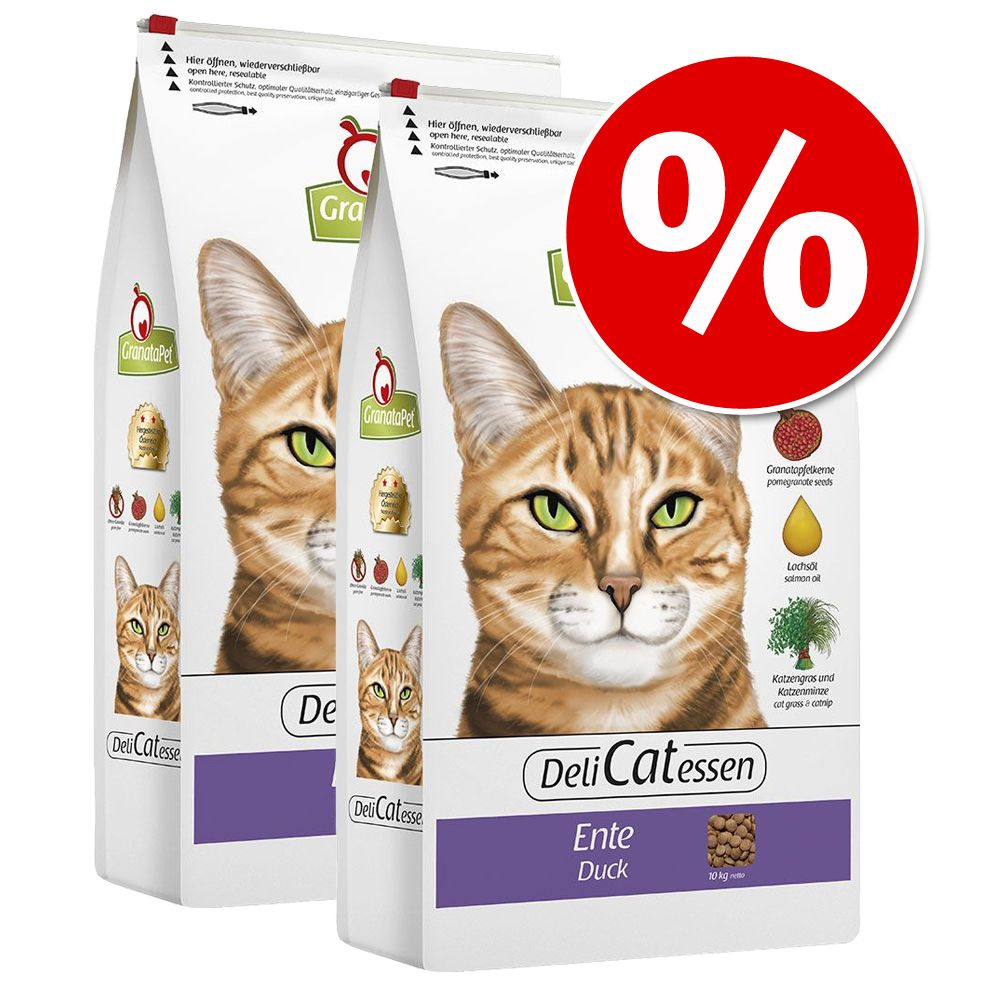 Ekonomipack: GranataPet kattfoder 2 x 10 kg till lågt pris! – Nötkött & räkor