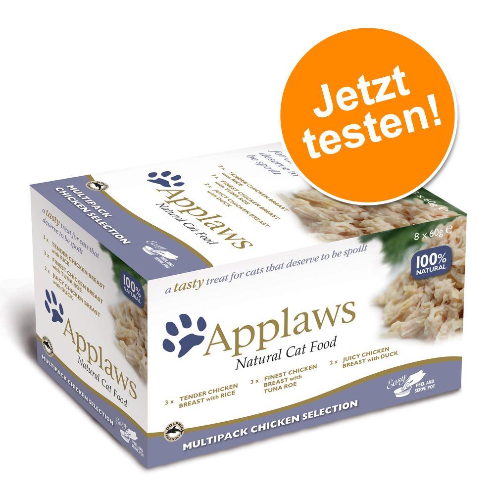 Applaws Cat Pot Probierpack  8 x 60 g - Fischauswahl