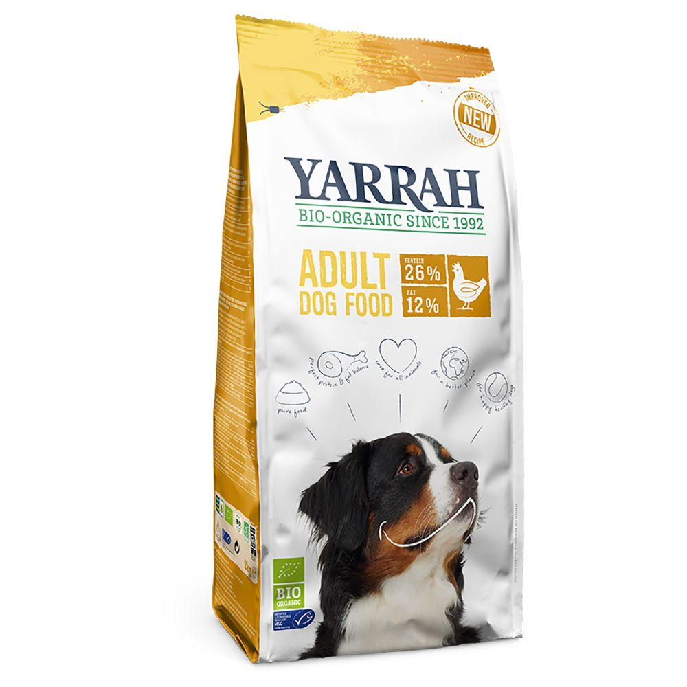 Yarrah Organic hundfoder med ekologisk kyckling - Ekonomipack: 2 x 15 kg
