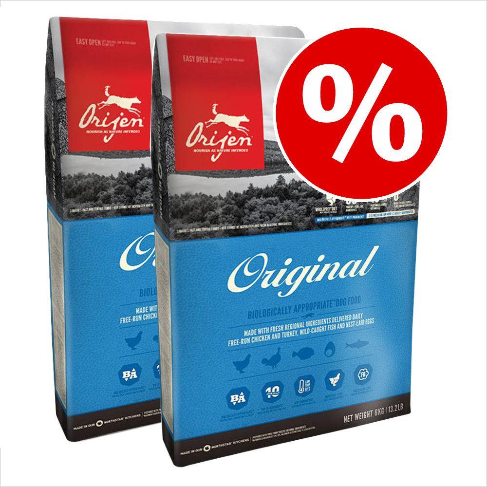 Ekonomipack: 2 x 11,4 kg Orijen hundfoder till lågpris! - Adult Six Fish