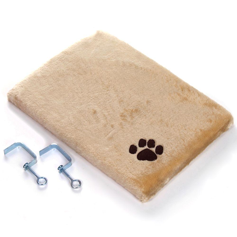Pluszowe legowisko dla kota na parapet, beżowe - Dł. x szer x wys.: 50 x 35 x 5 cm