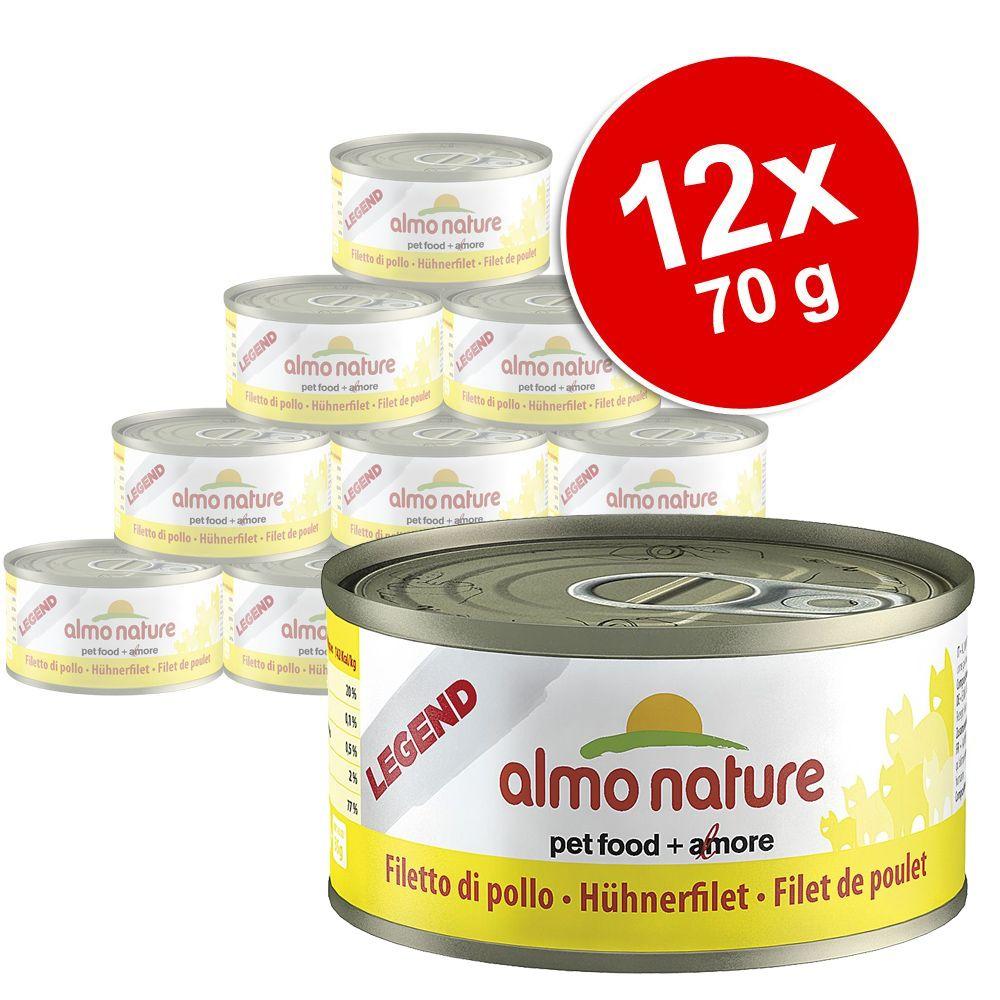 Korzystny pakiet Almo Nature Legend, mięso, 12 x 70 g - Kurczak z wątróbką