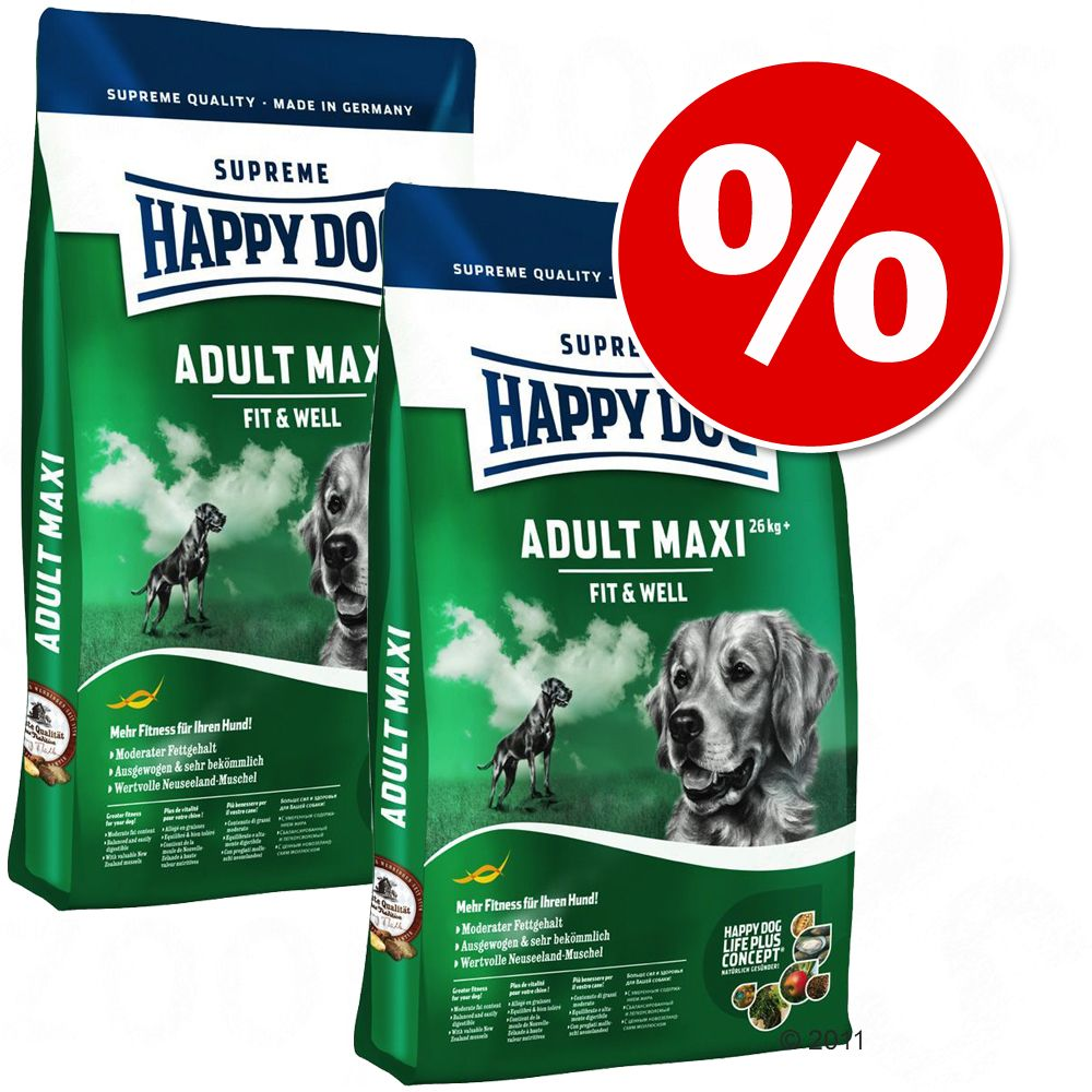 Dwupak Happy Dog Supreme - Fit & Well Light 1 - Low Carb, 2 x 12,5 kg