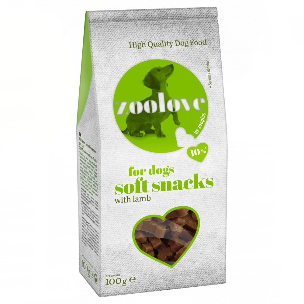 zoolove Soft Snacks Dog Treats Saver Pack 5 x 100g - Lamb