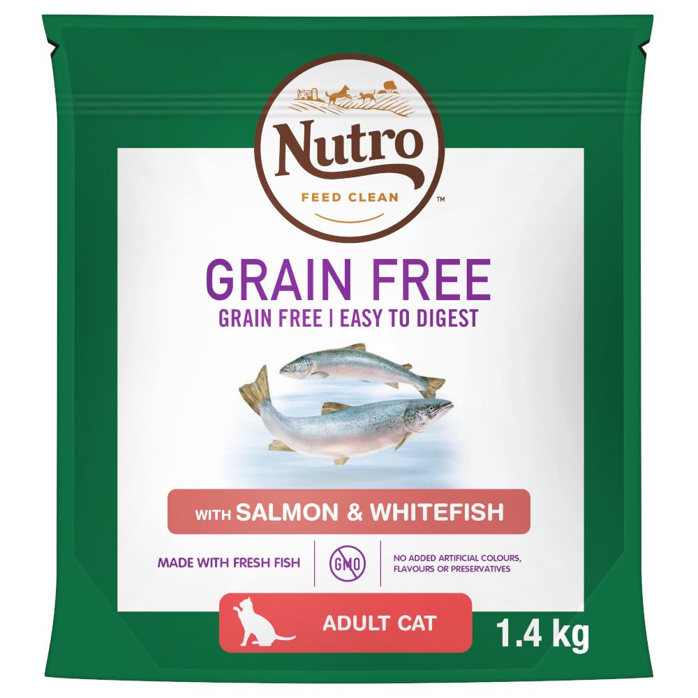 Grain-Free Salmon & Whitefish Adult Nutro Dry Cat Food