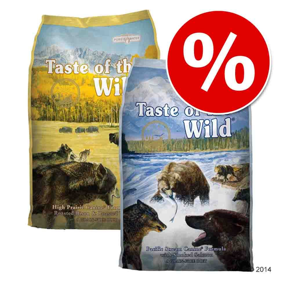 Pakiet mieszany Taste of the Wild, 2 x 13 kg - Pacific Stream Canine i High Prairie Canine