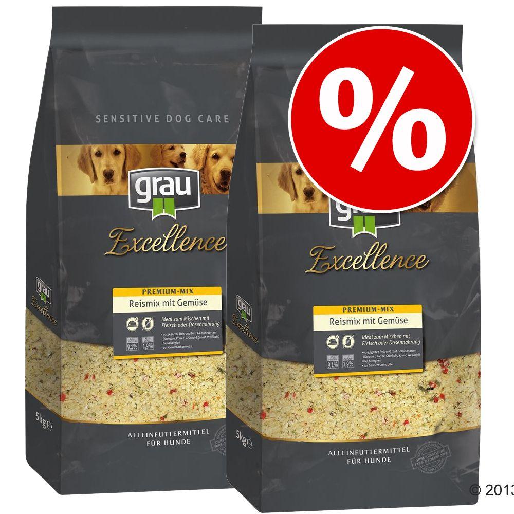 Sparpaket Grau 2 x 5 kg - Reismix mit Gemüse (2...