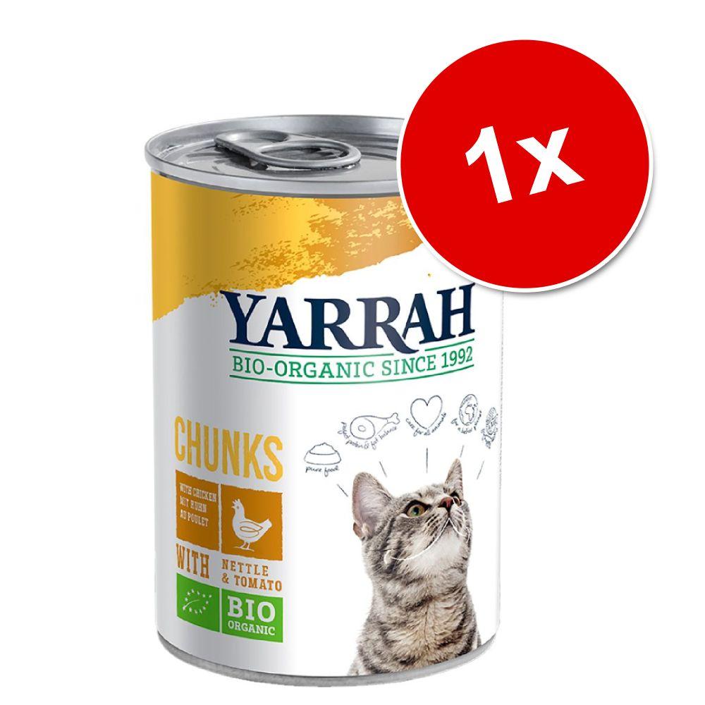 Yarrah Bio kawałeczki, 1 x 405 g - Biokurczak i bioindyk