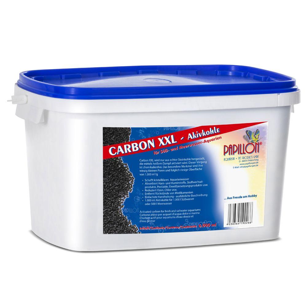 Papillon Carbon XXL Aktivkohle inkl. Filtermedi...