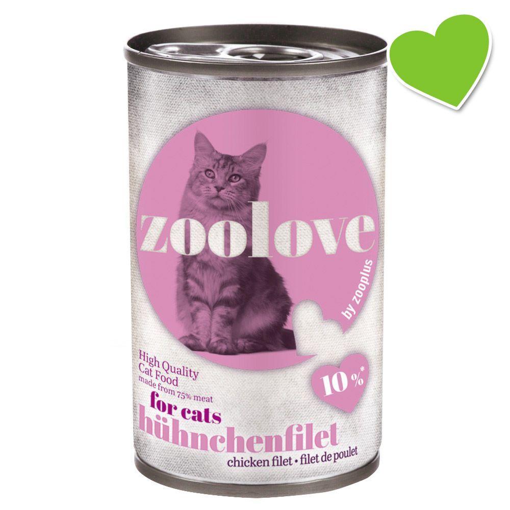 zoolove våtfoder för katter 6 x 140 g - Kyckling