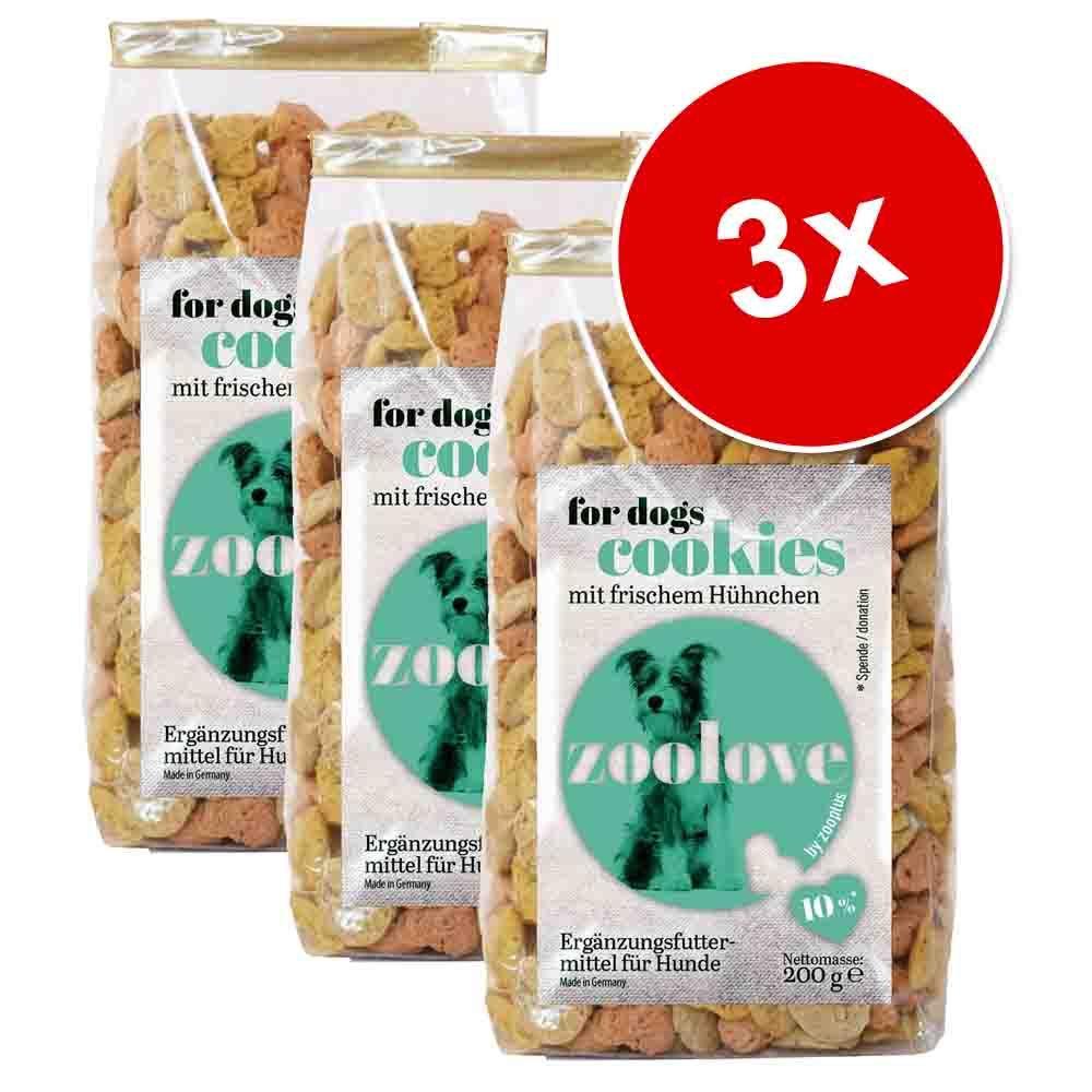 Megapakiet: zoolove ciastka dla psa, 3 x 200 g - Z dziczyzną