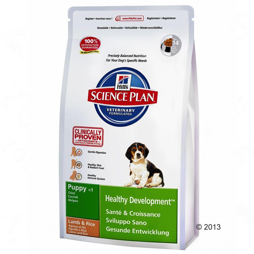 Hill's Canine Puppy, jagnięcina i ryż - 2 x 12 kg