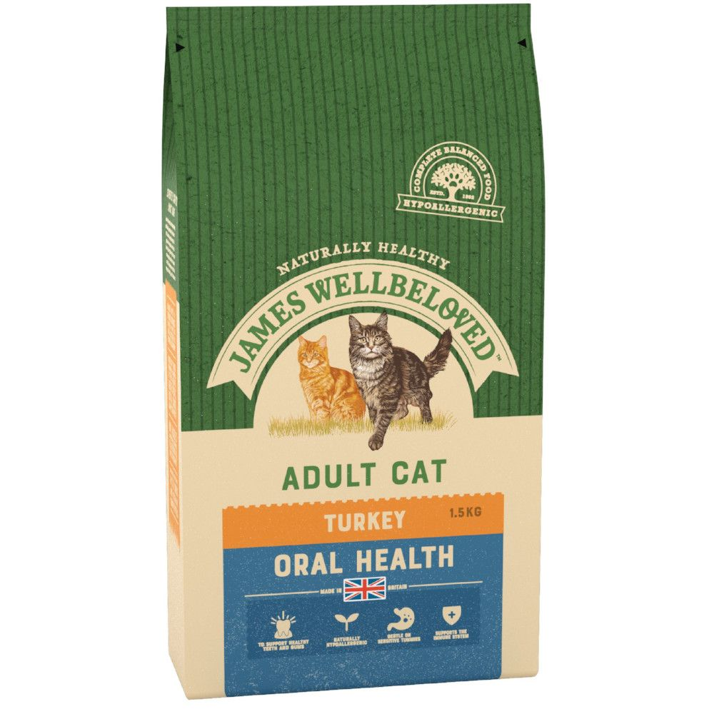 Turkey Oral Health Cat Food James Wellbeloved