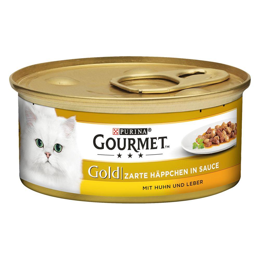 Gourmet Gold Zarte Häppchen 12 x 85 g - Lachs &...