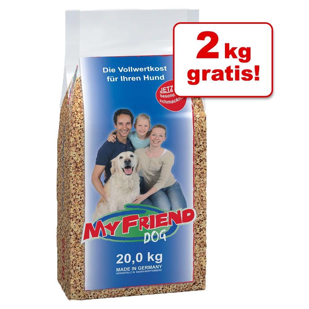 20 + 2 gratis! 22 kg My Friend Hundefutter Bonu...