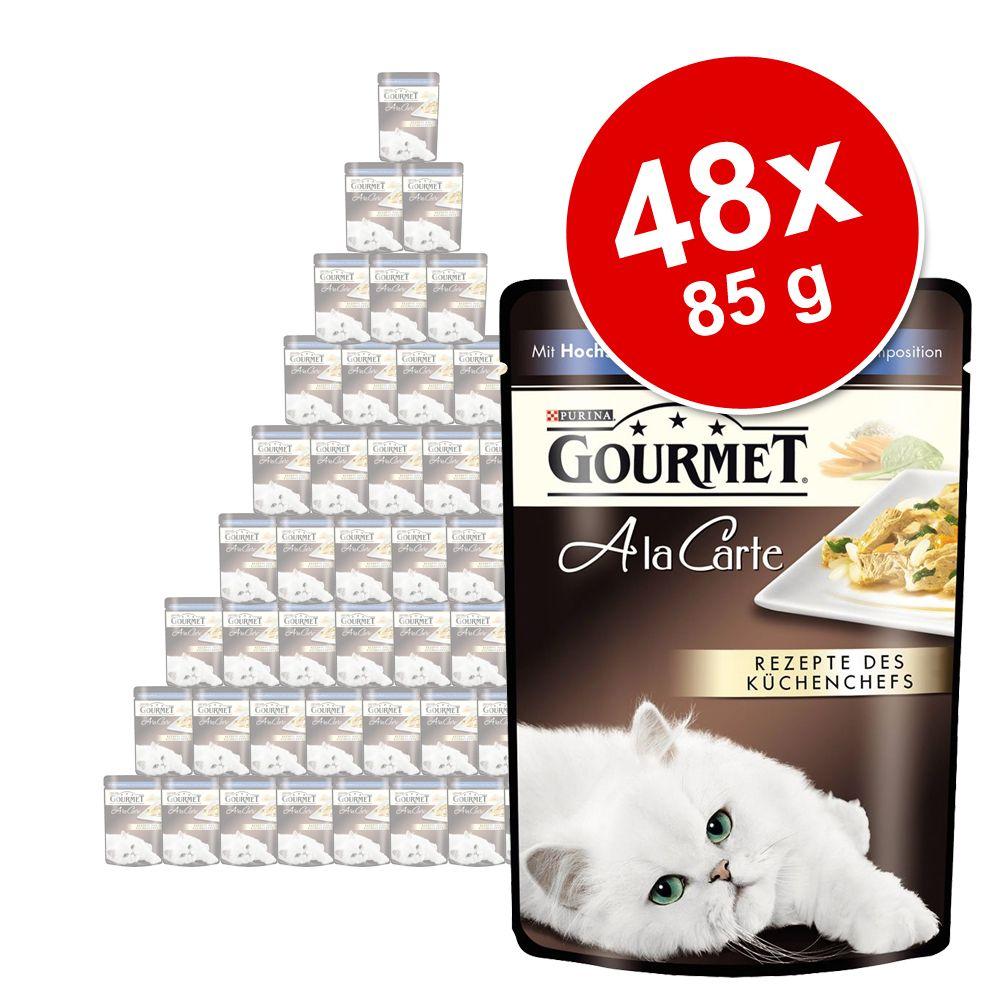 Megapakiet Gourmet A la Carte, 48 x 85 g - Ryba morska