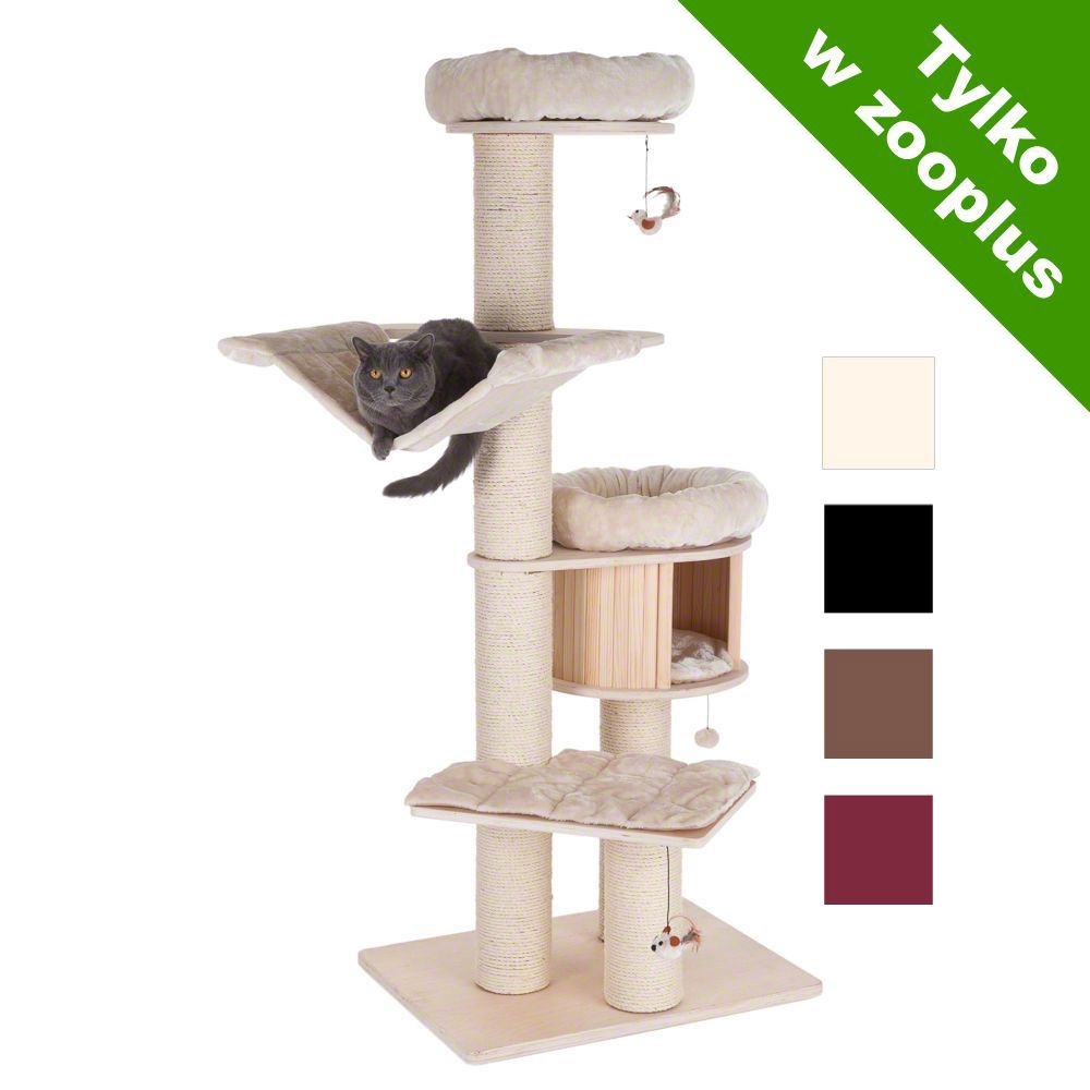 Natural Paradise XL PREMIUM EDITION drapak dla kota - Bordowy