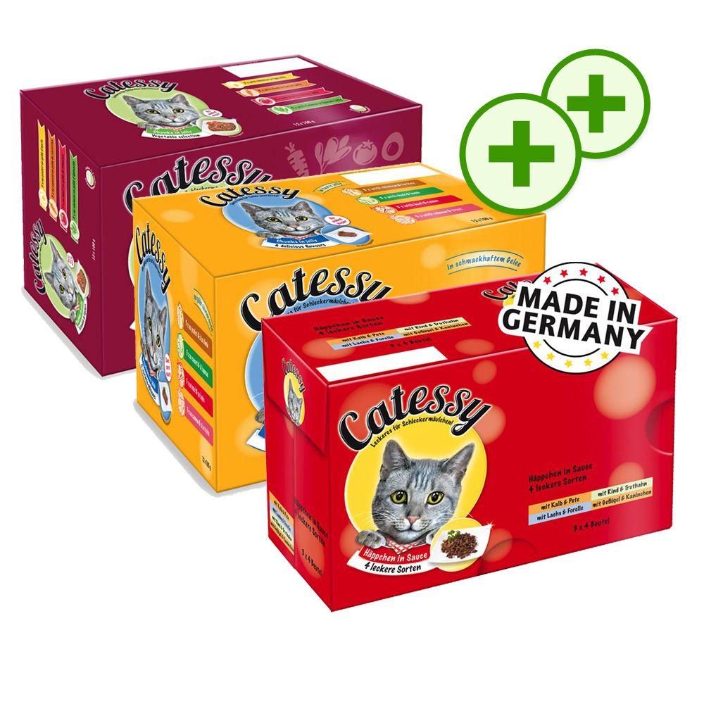 Podwójne punkty bonusowe: Pakiet Catessy Kawałeczki - 12 różnych smaków, 36 x 100 g