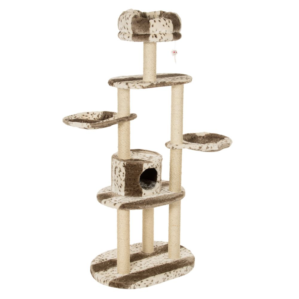 Wildcat Cat Tree - White / Light Brown