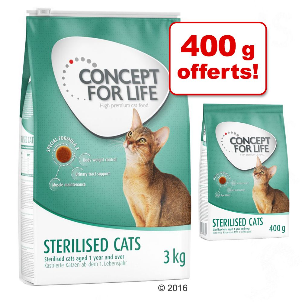 Croquettes Concept for Life 3 kg + 400 g offerts ! - Kitten
