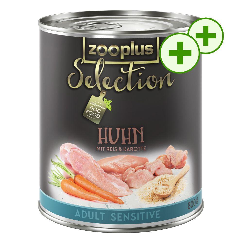 zooplus Selection Adult Sensitive Kyckling & ris ? med dubbla bonuspoäng! - Ekonomipack: 24 x 800 g